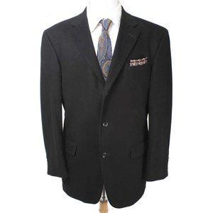 OSCAR DE LA RENTA Black Wool/Cashmere Blend Blazer